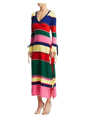 Rosie Assoulin Ottoman Stripe Knit Dress