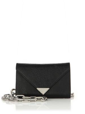 Alexander Wang Prisma Leather Envelope Chain Belt Bag