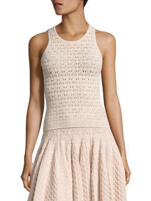 A.l.c. Casey Pointelle-knit Top