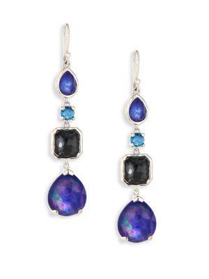 Ippolita Rock Candy? Sterling Silver Four-stone Linear Earrings