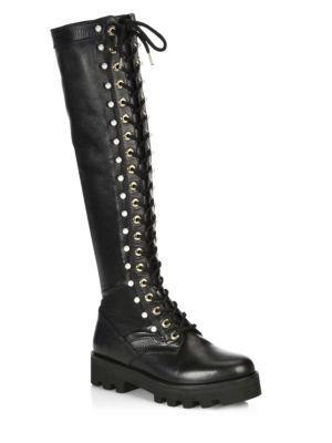 Altuzarra Cosmo Knee High Leather Jungle Boots