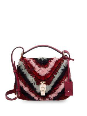 Valentino Garavani Piper Feather Messenger Bag