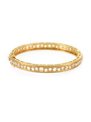 Bavna 18k Gold & Diamond Bangle