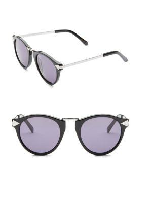 Karen Walker Helter Skelter 51mm Round Sunglasses