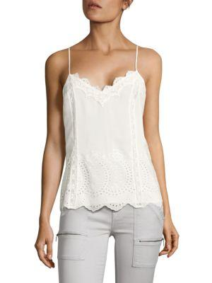 Joie Exclusive Vayle Embroidered Silk Tank