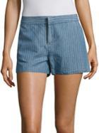 Joie Merci Striped Linen & Cotton Shorts