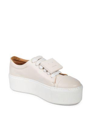 Acne Studios Drihanna Nappa Leather Platform Sneakers