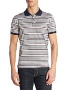 Salvatore Ferragamo Striped Cotton Polo