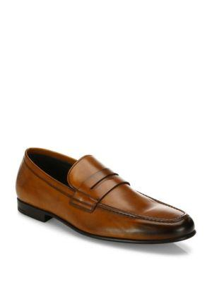 To Boot New York Alek Calfskin Leather Penny Loafers