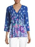 Lilly Pulitzer Marilin Printed Three-quarter Top