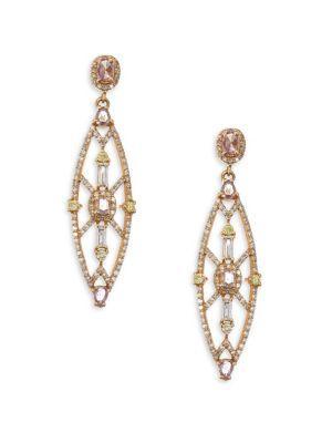 Bavna Colored Diamond Drop Earrings