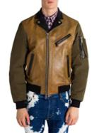 Dsquared2 Colorblock Leather Jacket