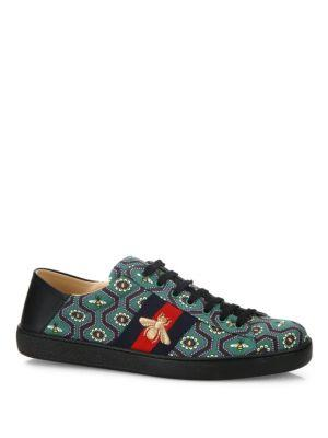 Gucci New Ace Bee-print Sneakers
