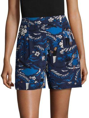 Michael Kors Collection Welcome Silk Shorts