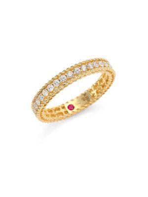 Roberto Coin Symphony Braided Diamond & 18k Yellow Gold Band Ring
