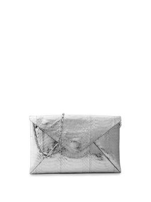 Michael Kors Collection Exotic Metallic River Clutch