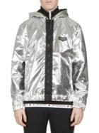 Givenchy Metallic Hooded Windbreaker