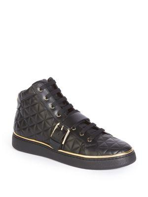 Balmain Quilted High-top Sneakers