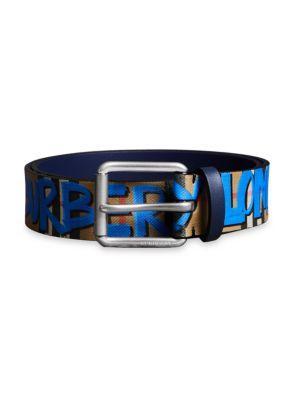 Burberry Graffiti Vintage Check Belt