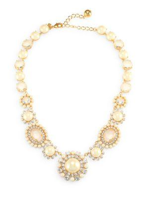 Kate Spade New York Simulated Faux Pearl And Crystal Necklace