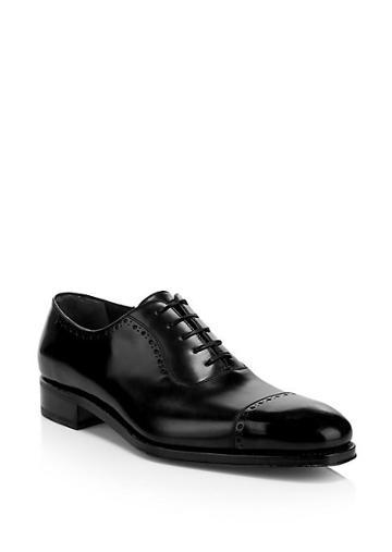 Salvatore Ferragamo Brawell Leather Oxford Dress Shoe