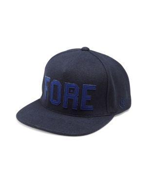 G/fore Logo Applique Wool Blend Cap