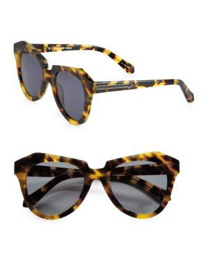 Karen Walker Number One Tortoise Acetate Cat Eye Sunglasses