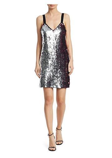 Tanya Taylor Becca Two-tone Sequin Mini Dress