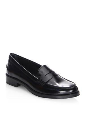 Tod's Penny Leather Loafers
