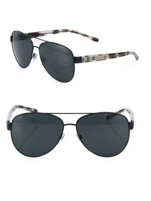 Burberry 60mm Pilot Sunglasses