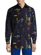 Salvatore Ferragamo Regular-fit Printed Shirt