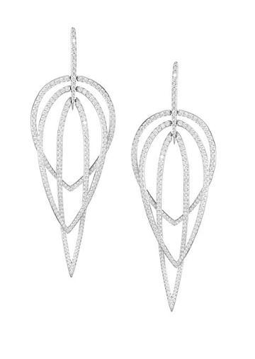 Adriana Orsini Eclectic Cubic Zirconia Layered Drop Earrings