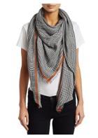 Loewe Silk Tweed Check Scarf