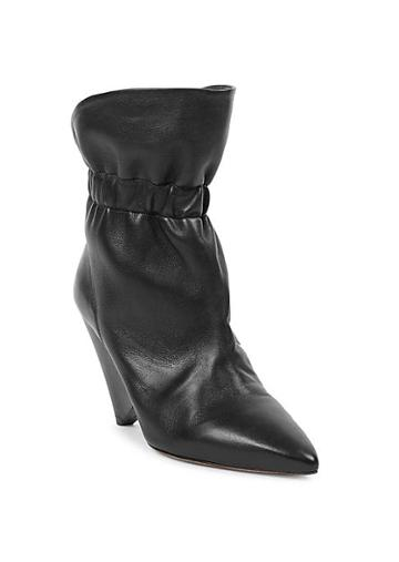 Isabel Marant Lileas Leather Cone Heel Ankle Boots