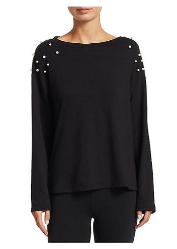 Cosabella Allie Embellished Long-sleeve Top