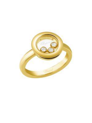 Chopard Happy Diamonds 18k Yellow Gold Ring