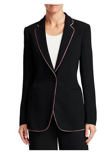 Emporio Armani Contrast Stripe One-button Blazer