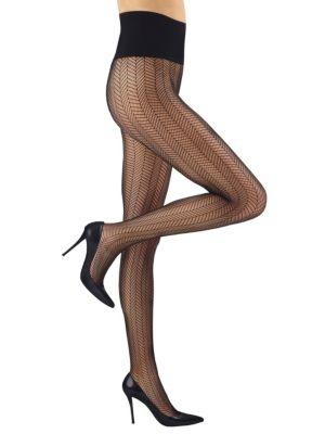 Commando Herringbone Net Tights