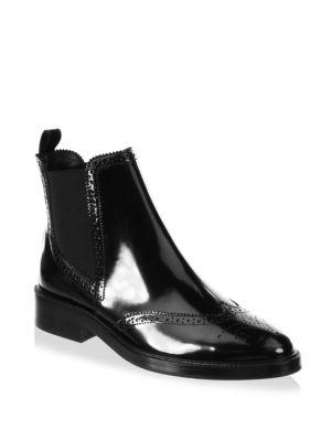 Burberry Bactonul Leather Chelsea Booties