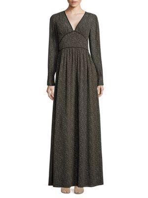Michael Michael Kors Cole Printed V-neck Dress