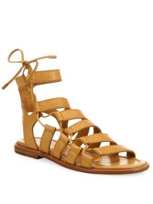 Frye Blair Leather Side Ghillie Sandals