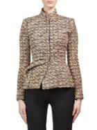 Lanvin Tweed Mockneck Jacket
