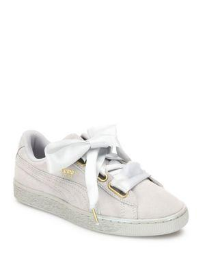 Puma Basket Heart Suedeand Satin Sneakers