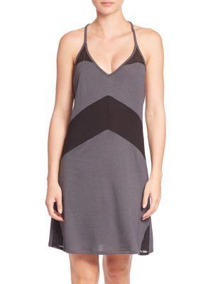 Cosabella Maxi Two-tone Slip Dress