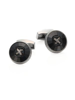 Tateossian Swarovski Button Mayfair Cuff Links