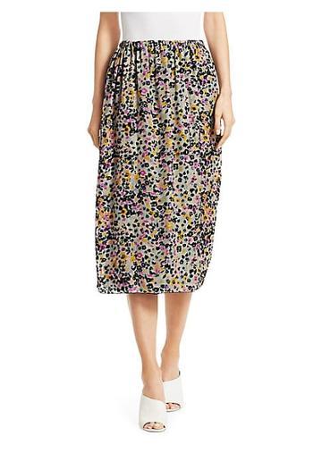 See By Chloe Burnout Velvet Midi Skirt
