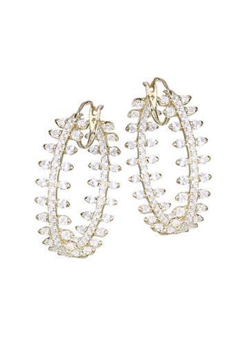 Adriana Orsini Cubic Zirconia Pave Hoop Earrings