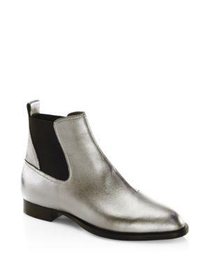 Rag & Bone Mason Metallic Leather Chelsea Boots