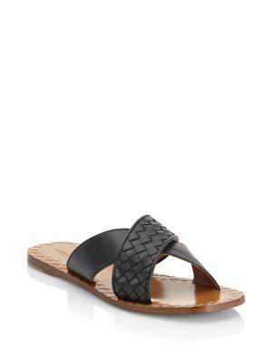 Bottega Veneta Crisscross Flat Sandals