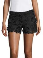 Milly 3d Floral Lace Shorts